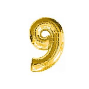 Кулька цифри золото 45см. номер -9