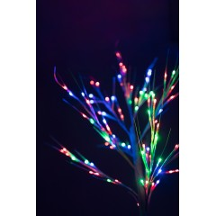 Новогоднее декоративное светодиодное дерево коричневое гирлянда 150 см 96 Led мульти