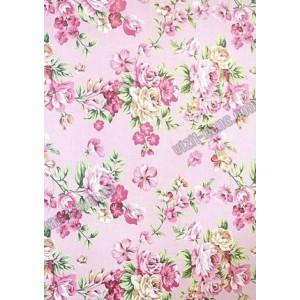 Папір пакувальний 80 грам, 52 * 75см, 50 шт в ОРР. Квіти на рожевому фоні