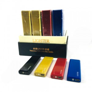 Зажигалка сенсорная Lighter USB спираль color