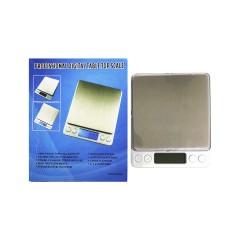 Весы ювелирные электронные I-2000 500грм. 0,01г. 2 чаши 2 бат R3 цв. серебро