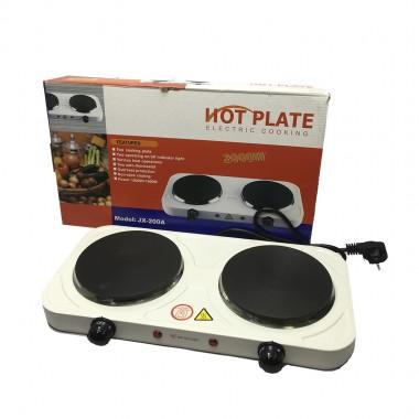 Электроплита двухконфорочная Hot Plate JX-200A 2000Ват. 46*27см дисковая цв. белый