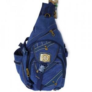 Рюкзак джинсовый через плечё Baby Fish 30х45см