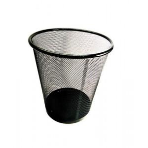 Ведро для мусора металлическое сетка маленькое DX-5003 черное