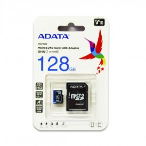 Карта памяти 128 GB microSDXC A-DATA Premier Class 10 (R-100Mb/s) UHS-1 (AUSDX128GUICL10A1-RA1)