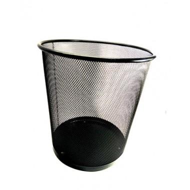Ведро для мусора металлическое сетка средние DX-5002 черное