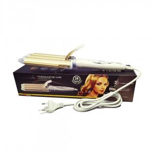 Плойка для волос ROZIA HR-722 на 3 волны белый
