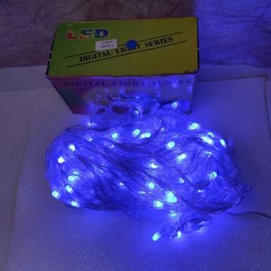 Гирлянда Водопад белый провод белая матовая круглая лампа 3 м Х 2 м 400LED синий
