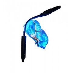 Светодиодная гирлянда нить конский хвост 2 м 200led от сети синий
