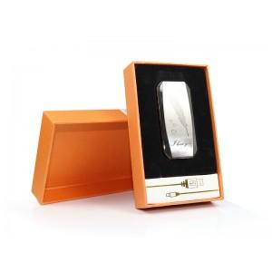 Аккумуляторная электро импульсная спиральная USB зажигалка JL-802 Pero серебро