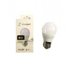 """Z-LIGHT LED Лампа """"шарик"""" G45 ZL 14508274 8w 4000k E27"""