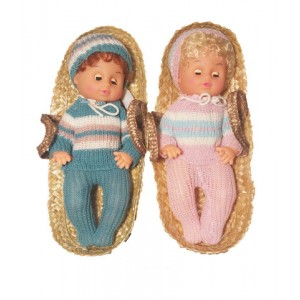 Кукла ПУПС в корзине 34см