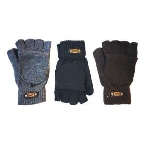 Перчатки варежки черн, серие, коричнев