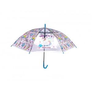 Зонт детский трость прозрачный Единороги 50 см