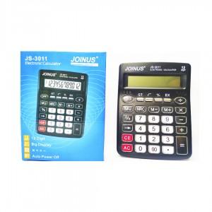 Калькулятор Joinus JS-3011 12 Digit 20*15.5 см. AA*1шт. нестираемые кнопки черный