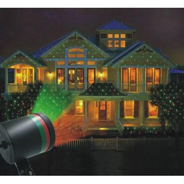 Проектор звездного неба Star Shower Звездный душ DL-111 уличное лазерное шоу свечения красно-зеленый