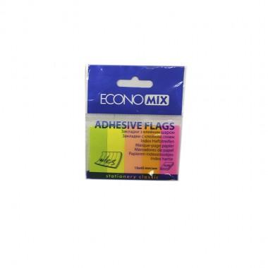 """Блок бумаги  липкий 30лх5цв """"Economix"""" Е20935 неон"""