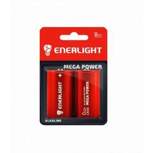 Батарейка Enerlight Mega Power LR20 блистер 2/12