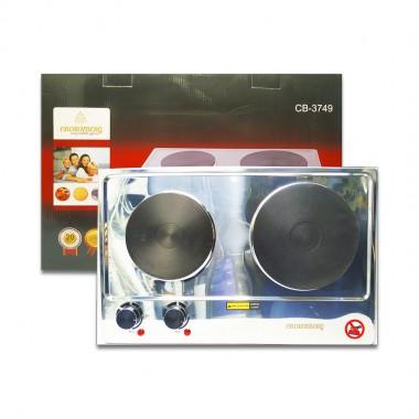 Электроплита CROWNBERG СВ-3749 1500W на 2 конфорки