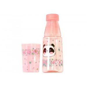 Бутылочка детская Beijing с стаканчиком 350 мл малиновый MSD6688