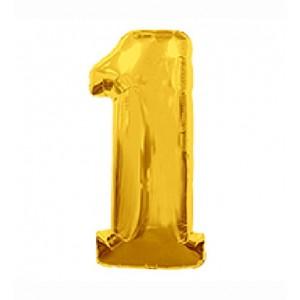 Кулька цифри золото 45см. номер -1
