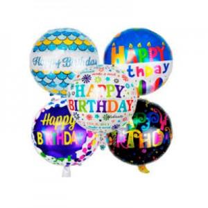 """Шар фольга """"Happy Birthday"""" 45см Mix"""
