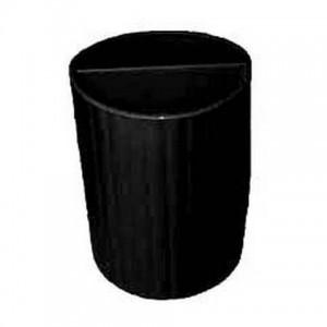 Стакан для ручок пластиковый (чёрн) (4) (24)