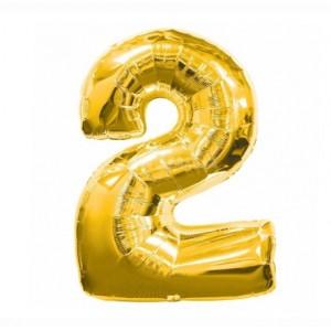 Кулька цифри золото 45см. номер -2