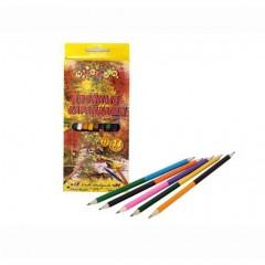 Карандаши цветные 12 цветов . двухстор d2,8, картонна коробка 300 гр