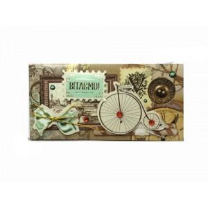 Листівка вітальна конверт ручна робота РРКП-1810