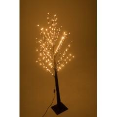 Новогоднее декоративное светодиодное дерево кричневое гирлянда 150 см 96 Led  тёплый белый