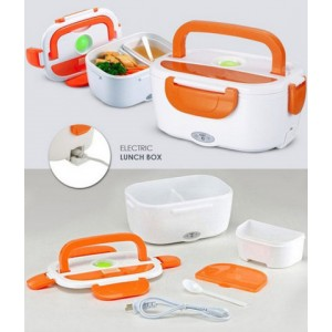 Судочек пластиковый с подогревом (оранжевый) от прикурки