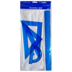 Линейки набор 30 см+транспортир+2треугольная пластиковий КОЛЬОРОВИЙ 24шт/уп