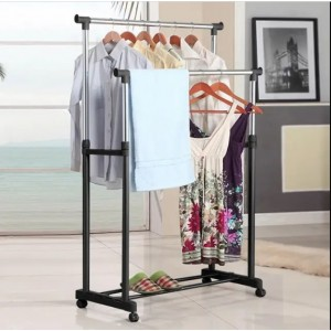 Стойка вешалка для одежды 30кг напольная Double-Pole меньшая