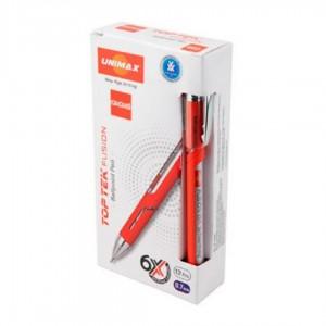 Ручка 10 км Unimax  UX-10 000-01 красная (12)
