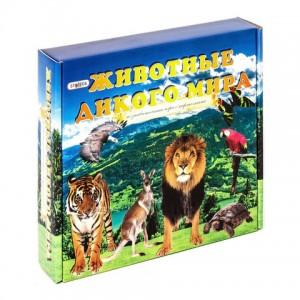 """Игра с карточками  """"Животные дикого мира"""" настольная игра в коробке 686 25,5*25*5"""