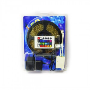 LED стрічка Кольорова 3528 RGB м, 12V, 360 світлодіодних лампочок
