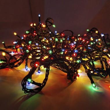 Светодиодная гирлянда SOFI 12,5 м 360LED свеча с черным проводом 8 режимов мульти