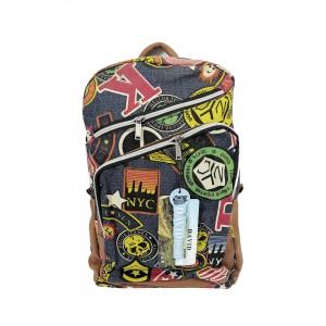 Рюкзак молодежный David Sport 40 х 32 х 14 см кожаные вставки