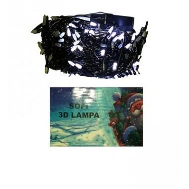 Светодиодная гирлянда SOFI 30 м 300LED свеча матовая с черным проводом 8 режимов белый
