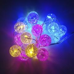 Светодиодная гирлянда 2м 20 лампочек в форме шара на батарейках АА3 мульти