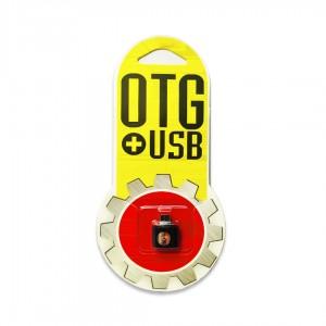 """Переходник """"Metall Shot"""" USB OTG -microUSB черный"""
