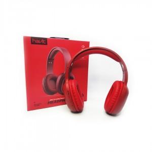 Наушники HAVIT HV-H2590BT (+FM) красные (bluetooth V4.2,AUX, Micro CD) (25110)