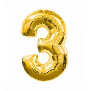 Кулька цифри золото 45см. номер -3