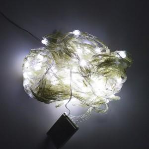 Светодиодная гирлянда 10 м 120LED лампочка с черным проводом 8 режимов мульти
