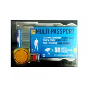 """Обкладинкадляпаспорта """"Multi passport"""" у пакетіз підвісом 12шт/уп"""