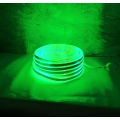 Светодиодная гирлянда Rainberg шланг 10 м с белым проводом неоновая зелёный