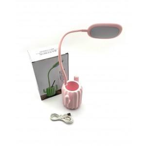 Лампа настільна кактус з підставкою для ручок, LED.3 яскравості світла. Працює на акумуляторі. Заряд