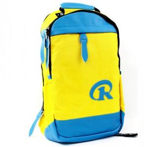 Рюкзак R жёлто-голубой 45х35 см