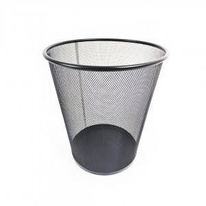 Ведро для мусора металлическое сетка большое DX-5001 черное